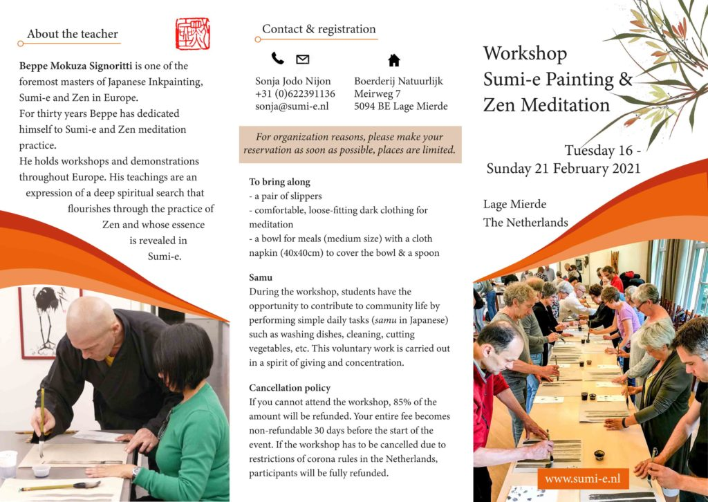 Sumi-e & Zen Workshop_Lage Mierde_February2021