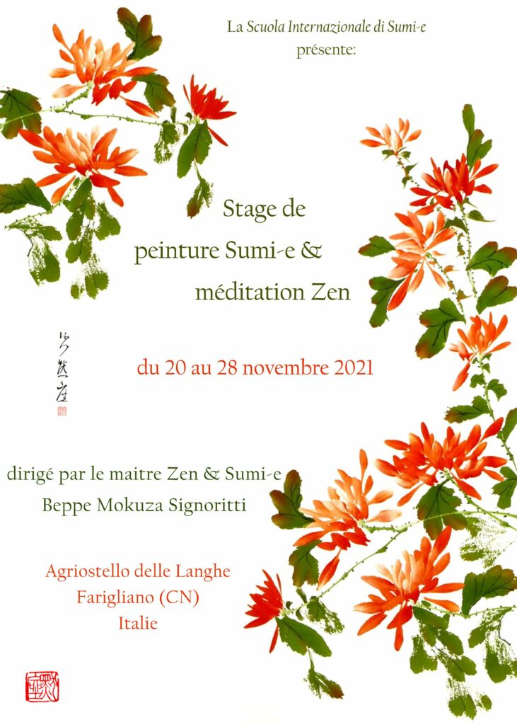Stage de sumi-e et zazen_Novembre 2021